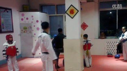 6月4日洪韬壹跆拳道交流『实战一』