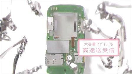 机械手出击,华为GL04P日本广告