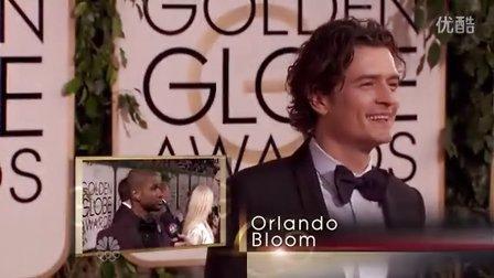 2014金球奖奥兰多·布鲁姆红毯部分