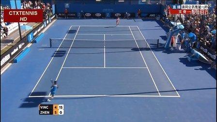 2014澳大利亚网球公开赛女单R1 郑洁VS文奇 (自制HL)