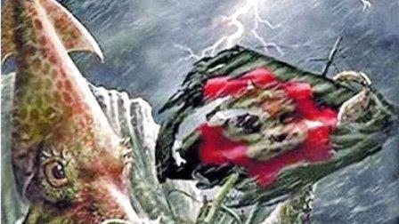 """日本现8米巨型乌贼 似挪威""""北海巨妖"""""""