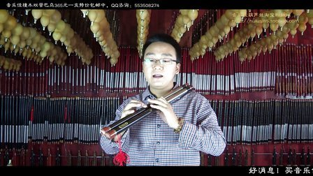 双管巴乌教学28  珊瑚颂  曲谱分析讲解视频示范欣赏