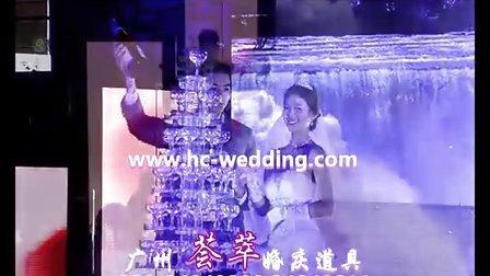 12层高香槟塔 2米5高蛋糕模型 浪漫展示 广州荟萃婚庆道具用品批发 婚纱批发 婚庆道具生产厂家