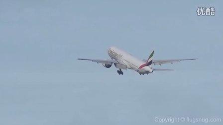 777 go around twice in unpredictable crosswind