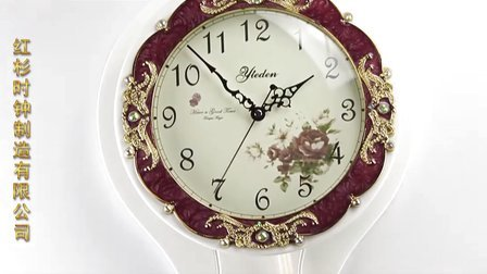 欧式田园风格实木客厅日本丽声机芯钟表 挂钟 摆陀钟 CF362-2