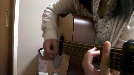 YUI cover Your Heaven guitar sora0lalala