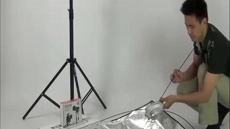 金贝影视灯安装方法 柔光箱 影室灯安装 金贝闪光灯