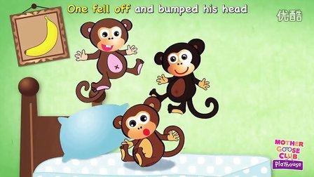 英文儿歌-Five Little Monkeys Jumping on the Bed