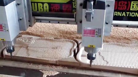 速霸双头木工雕刻机视频 茶盘雕刻机视频