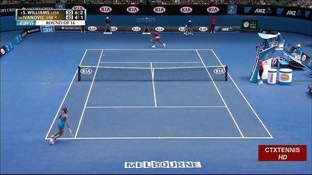 2014澳大利亚网球公开赛女单R4 小威廉姆斯VS伊万诺维奇 HL