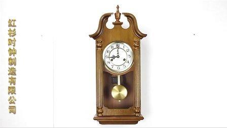 钟表欧式摆钟客厅摆钟机械挂钟实木CQ5215M