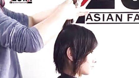 最新款的百变烫发造型 美发视频  女生短发烫发发型
