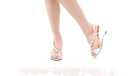 8cm清澈透明厚实宝石装饰高跟凉鞋