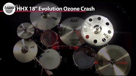 Sabian 镲片演示系列 十一  高清 18_HHX Evolution O-Zone Crash