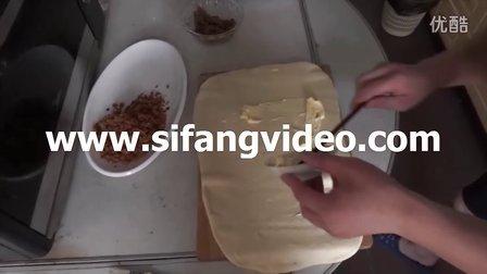 美的烤箱制作黄油面包卷