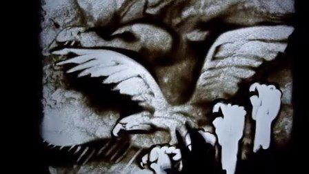 长隆超级牛人用沙作画 描绘长隆野生动物世界