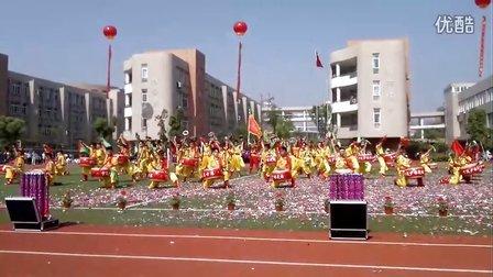 2012年5月5日宁波少林文武学校威风盘鼓队参加集士港镇(国家卫星城)第二届运动会开幕式演出