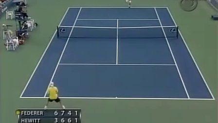 2005 美网sf 费德勒vs休伊特 set4