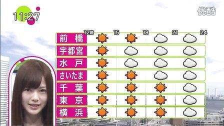 乃木坂46 生駒里奈白石麻衣の天気予報 120816 ノンストップ