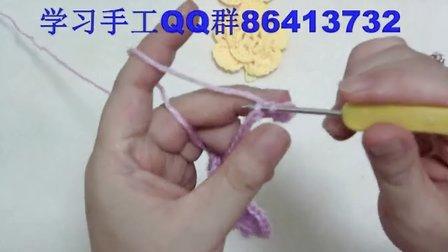 舞溪手工--花朵围巾1