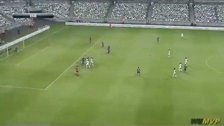 实况足球视频网-PES2013 C罗34米电梯球破门