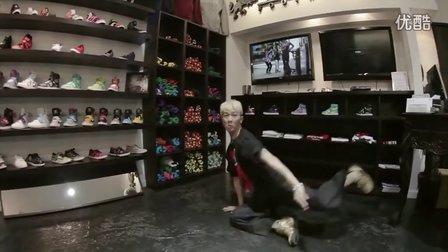 【粉红豹】poppin南贤俊在鞋店的一顿快速机械舞solo,累到爆!