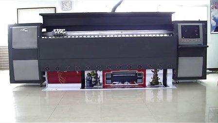 惠阳环球 UD-3278D 内打灯灯布打印视频及灯箱画面安装演示