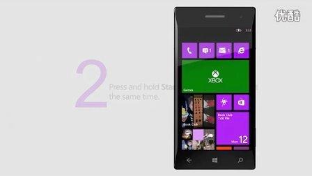 Take a screenshot in Windows Phone 8