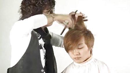 男士短发剪发 男士发型修剪 美发剪发教学