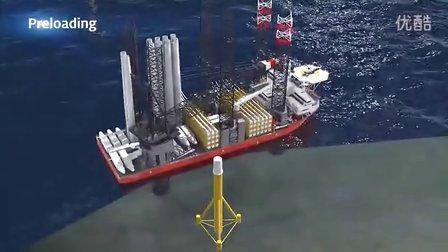 全球最大海上风电安装船Pacific Orca如何作业