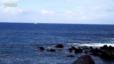 远远地看见鲸鱼