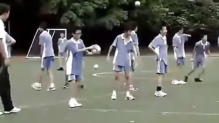 初三足球教学手球练习执教彭飞初中體育優質課示范课堂实录