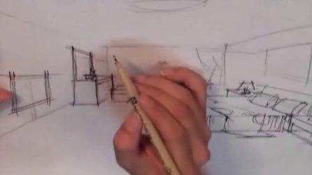 室内手绘效果图(上)(室内设计教程)室内设计教学室内 厦门室内设计培训学校视频