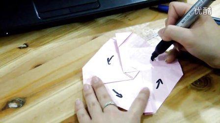 淘宝HJ手工川崎纸玫瑰花折纸折法教程