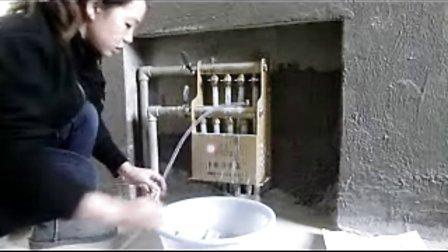 天颐郦城地暖排气流程示范