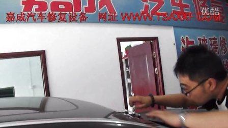 宝马730玻璃牛眼修复 汽车玻璃修复操作 玻璃修复设备