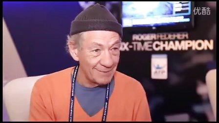 英国名演员伊安·麦克莱恩Sir Ian McKellen谈网球最爱费德勒