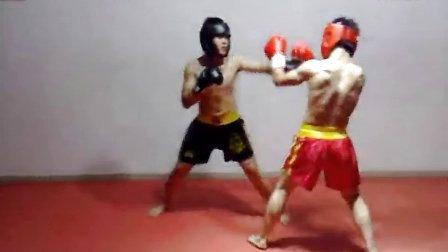 深圳拳击实战培训小艾VS小邹