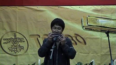 天津市第四届大学生TOMBO口琴比赛 视频剪辑02   复音口琴口琴演奏《土耳其进行曲》.flv