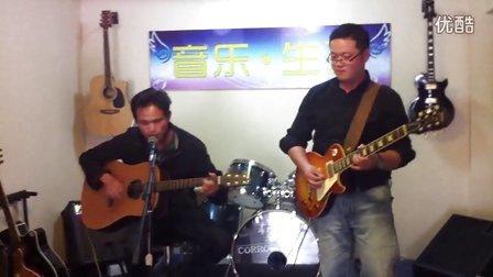 连云港 流浪歌手徐雷与吉他老师李扬 《女友嫁人了新郎不是我》 吉他弹唱
