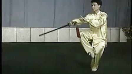 陈思坦四十二式太极剑全套正面演练