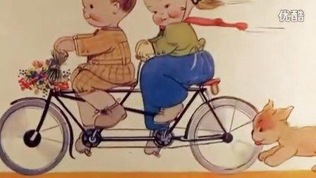 骑在双人车上