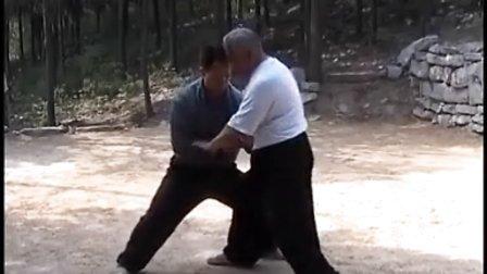 刘成德先生在郎茂山传授弟子谭中岳推手