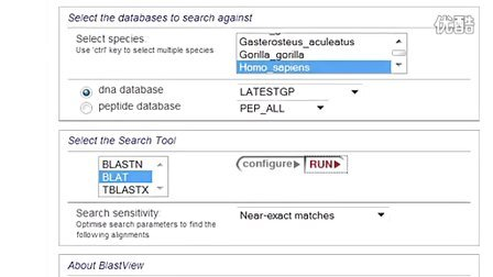 Demo 4- Using BLASTBLAT in Ensembl