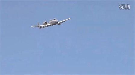 A-10疣猪攻击机加特林机枪测试