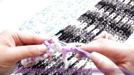双元宝围巾编织教程 简单围巾的织法花样视频教程