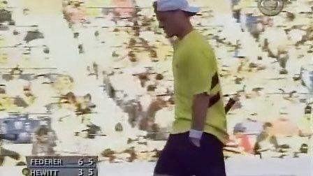 2005 美网sf 费德勒vs休伊特 set2 part3