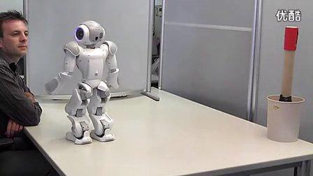 机器人捡球测试--博乐机器人表演