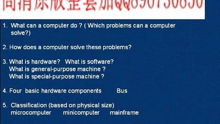 武汉理工大学 计算机英语 48讲 全套视频教程下载加QQ896730850