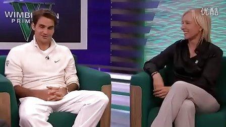2012费德勒温网赢得第7冠之后Tennis Channel的访问